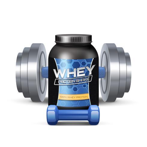 sport näring behållare och sumbbells vektor