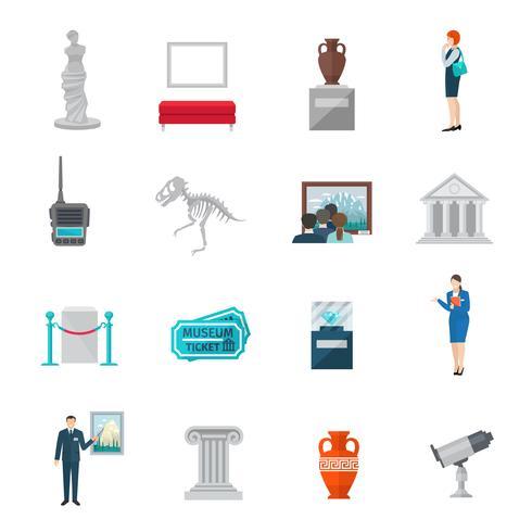 museum ikon platt vektor