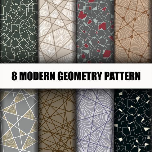 8 Ställ geometriska mönster vektor