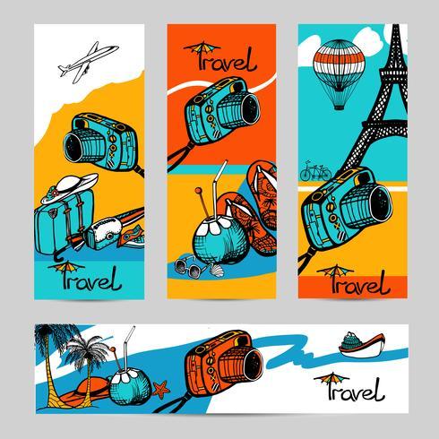 Reisefoto-Banner-Set vektor