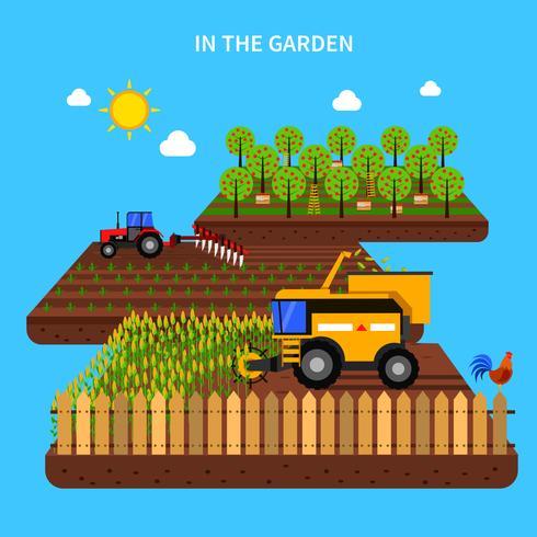 Jordbrukskoncept Illustration vektor