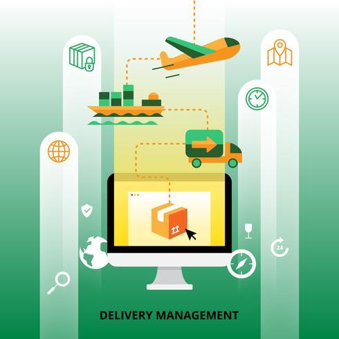 Delivery Management Illustration vektor