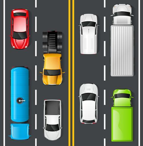 Verkehr Draufsicht vektor
