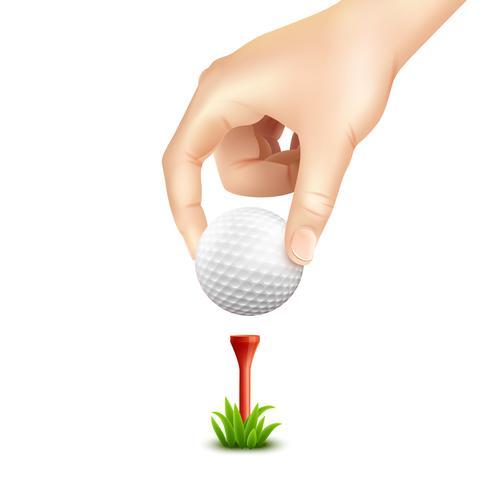 Golfboll Realistisk bakgrund vektor