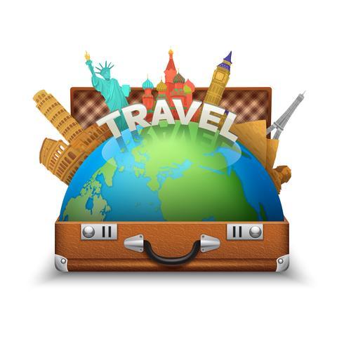 Touristische Koffer Illustration vektor