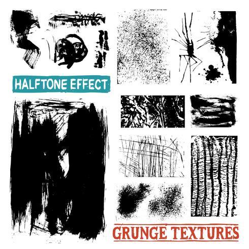 Grunge Halbtonzeichnung Texturen vektor