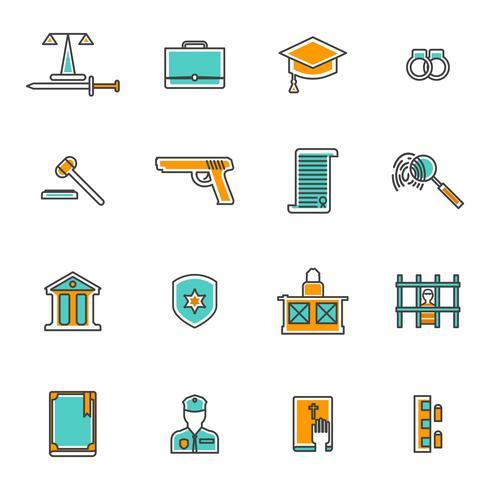 Dom Line Icons Set vektor