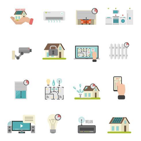 smart house icons set vektor