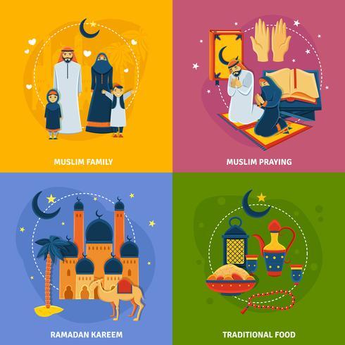 Islam ikoner sätta vektor