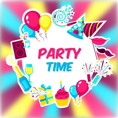 Party Time Hintergrund vektor