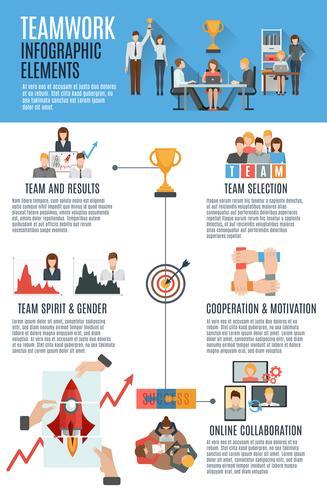 Teamwork management infographic banner vektor