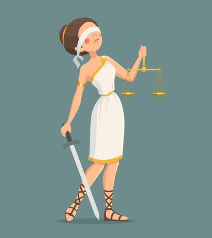 Gerechtigkeit Dame Illustration vektor