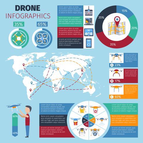 drone infographics set vektor