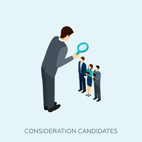 Välja en kandidatkonceptillustration vektor