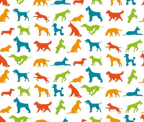 Hund nahtlose Muster vektor