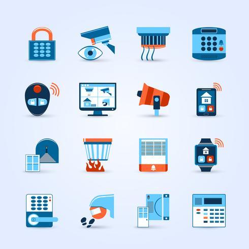 Home Security Icons Set vektor