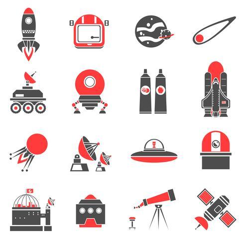 Weltraum-Icons gesetzt vektor