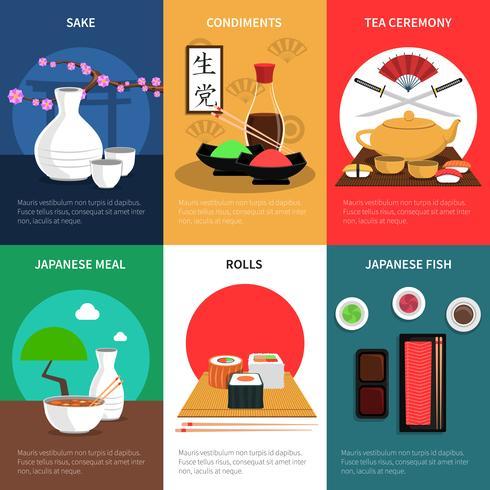sushi mini affischset vektor
