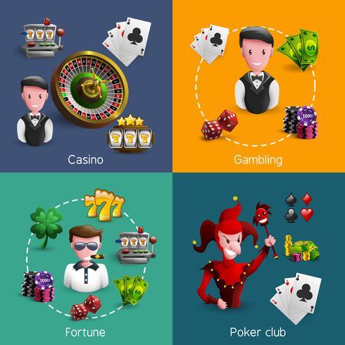 Casino 2x2 kompositioner Set vektor