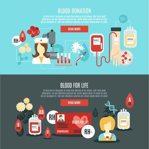 blodgivare banner vektor