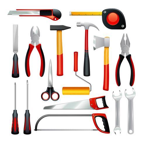 Werkzeuge Icons Set vektor