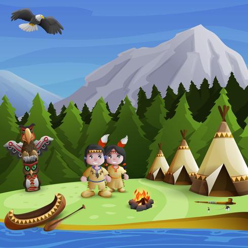 Ureinwohner-Hintergrund-Konzept vektor