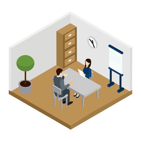 Rekryteringsintervjuillustration vektor