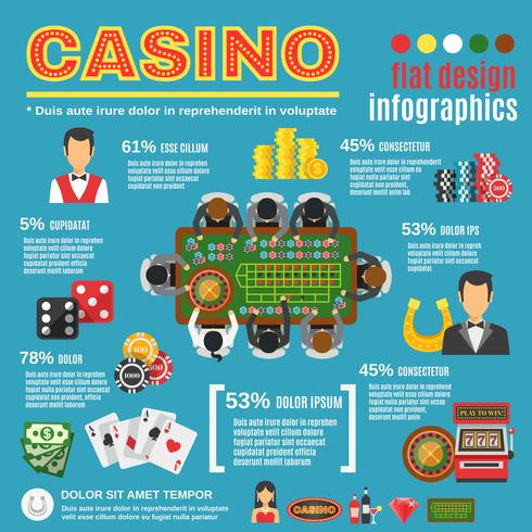 Casino Infographic Set vektor