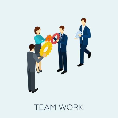 Teamwork-Konzept isometrisch vektor