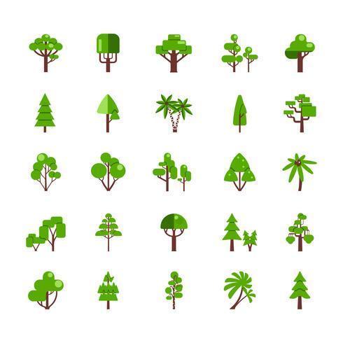 Träduppsättning Samling vektor