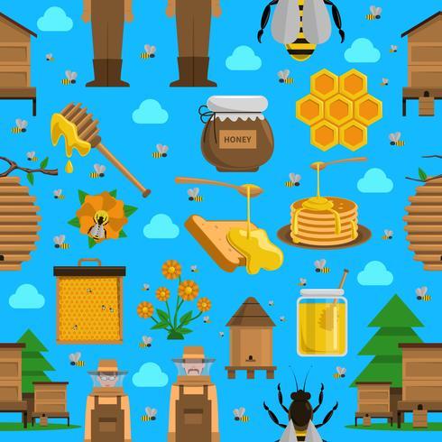 Honung sömlösa mönster vektor