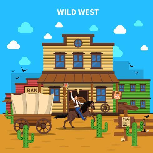 Cowboy Hintergrund Illustration vektor