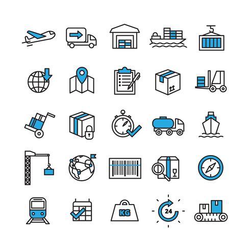 Logistik Icons Set vektor
