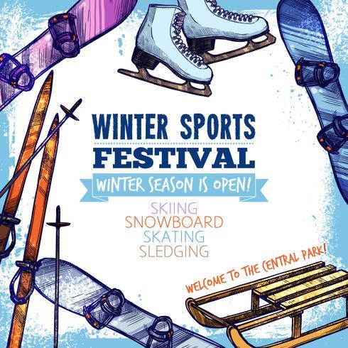 Vinter sportaffisch vektor
