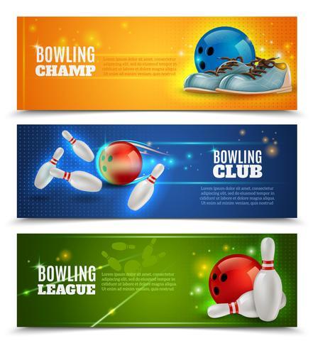 Bowling-Banner eingestellt vektor