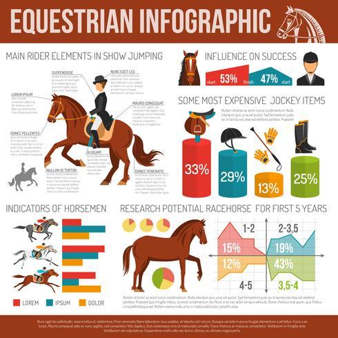 Ridning Sport Infographic vektor