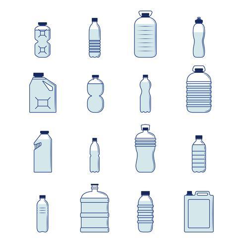 Plastikflaschensatz vektor
