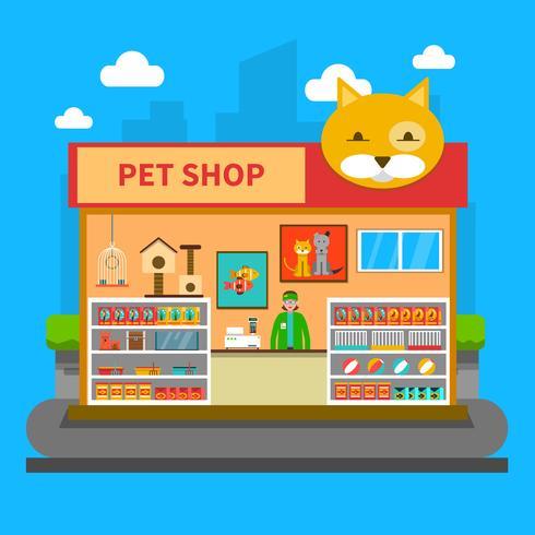 Husdjur Shop Concept vektor