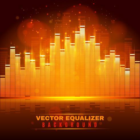 Equalizer våg ljus bakgrundsaffisch vektor