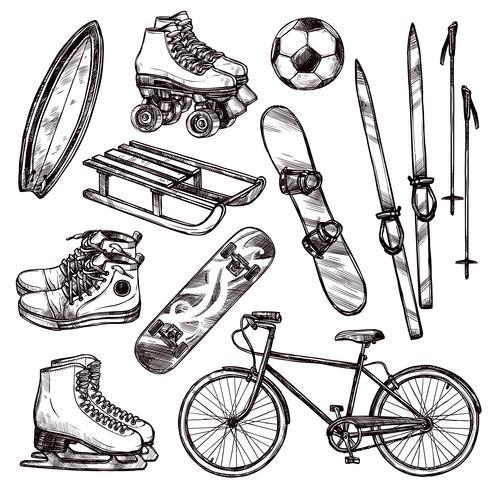 Sportgeräte-Set vektor