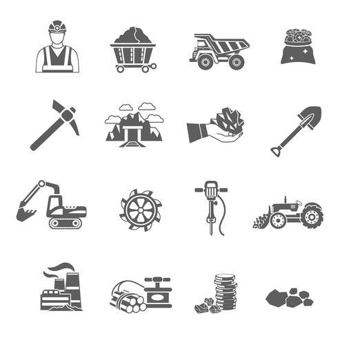 gruv ikoner uppsättning vektor