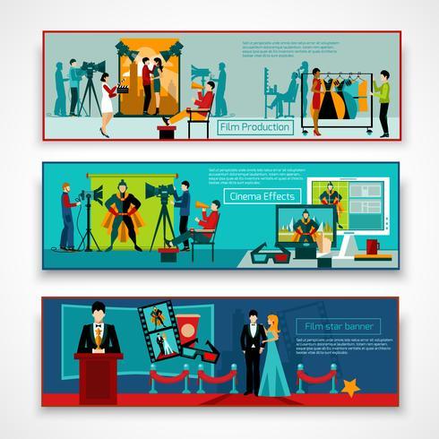 Kino Menschen Banner gesetzt vektor