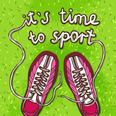Sport-Gumshoes-Poster vektor