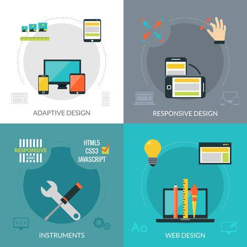 Adaptiv Responsive Web Design vektor