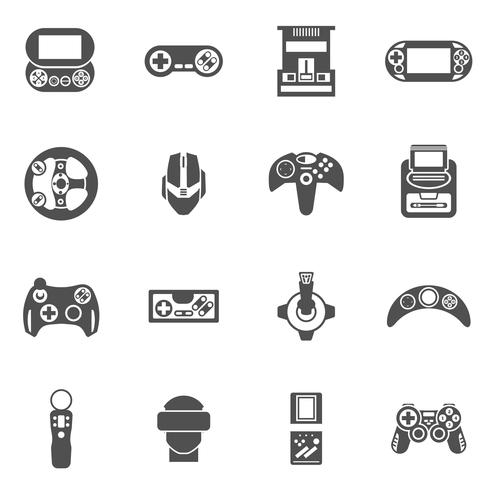 Videospel Ikoner Set vektor