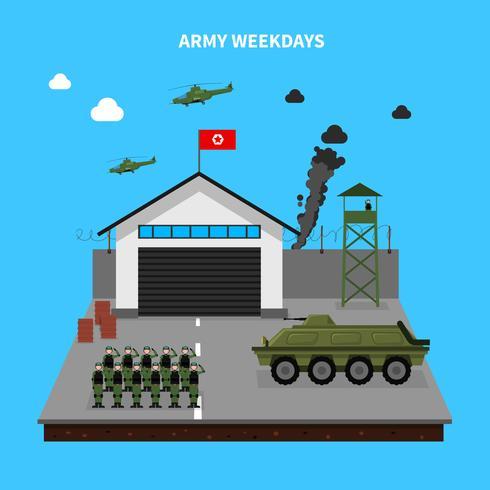 armén vardagar illustration vektor