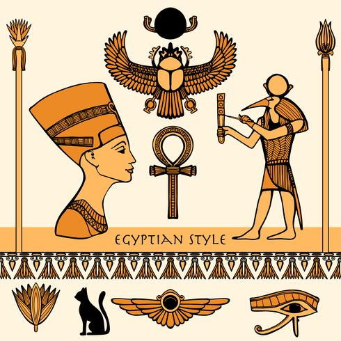 Egypt Färg Set vektor