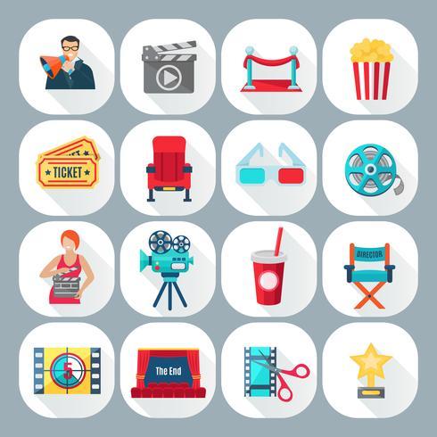 Filmaufnahmen Icons Set vektor