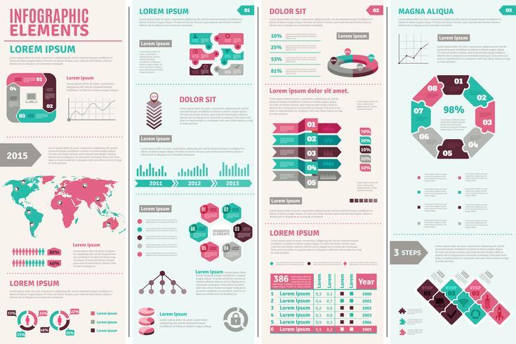 infografisk designuppsättning vektor