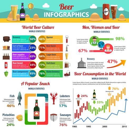 Öl Infographics Set vektor